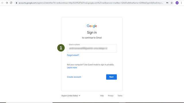 Cara Login Email di Laptop Menggunakan Akun Belajar Id