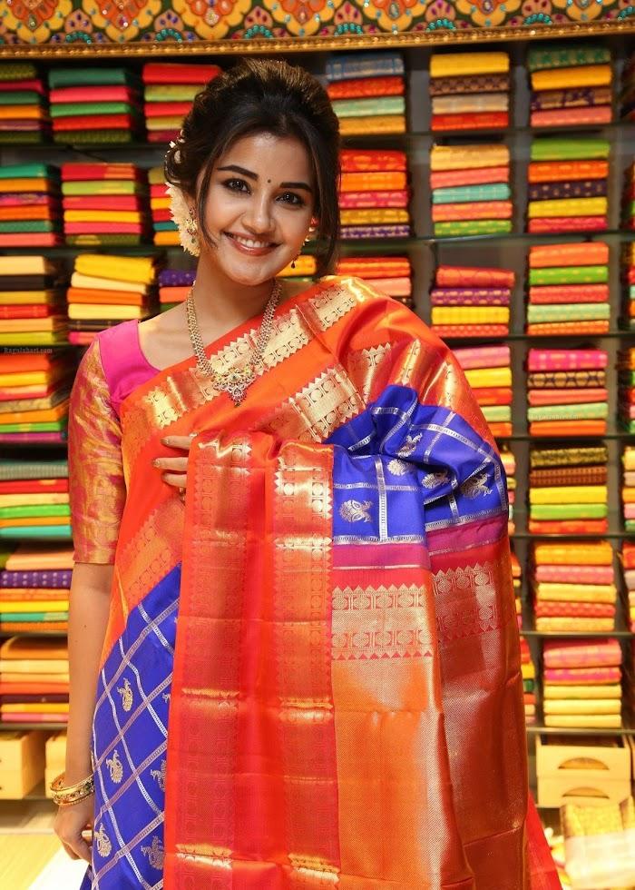 Anupama Parameshwaran Gorgeous in Saree Photos|HD Silk Saree wearing Pictures