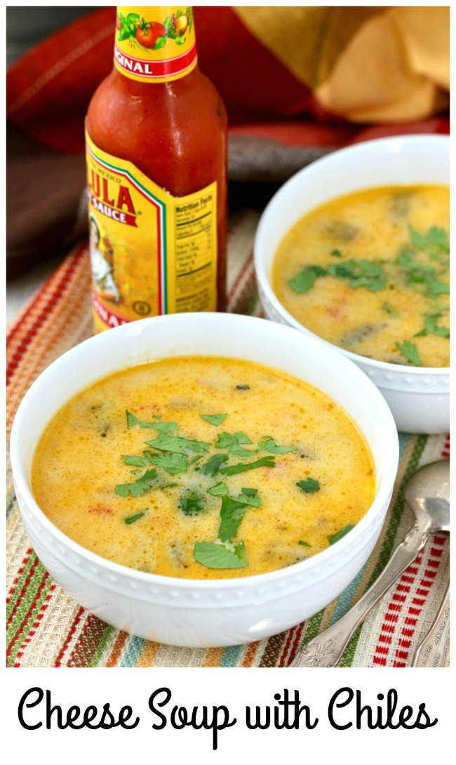 Mexican Cheese Soup with Chiles and Potato