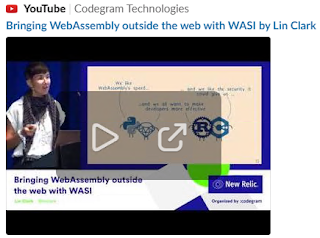 Preview of the YouTube screen about Bringing WebAssembly outside the web with WASI by Lin Clark