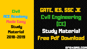 GATE, IES, SSC JE Civil Engineering (CE) Study Material Free Pdf Download
