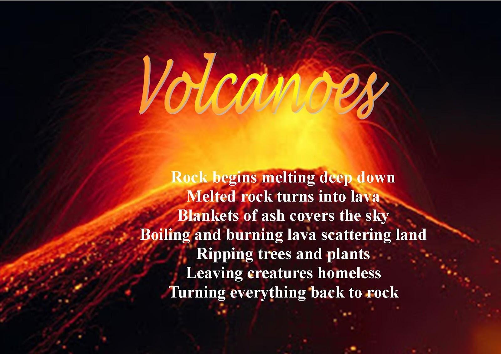 Poem Volcanoes