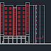 مخططات مشروع سكني تجاري اتوكاد كامل