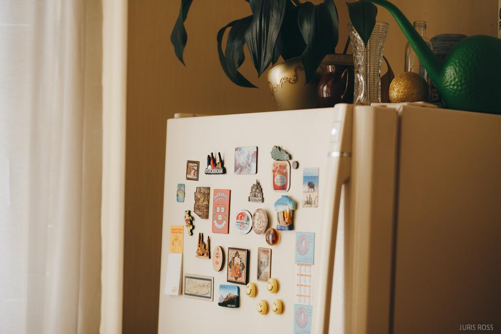 ledusskapja magnēti