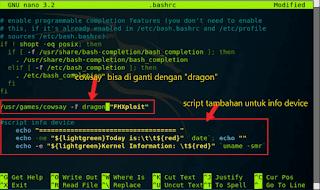 cara merubah tampilan terminal emulator
