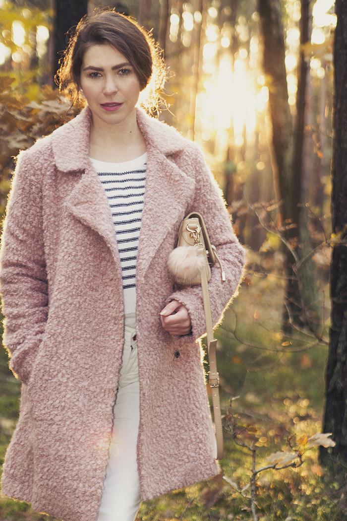 pink coat C&A adidas originals superstar sweather stripes H&M