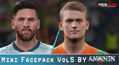 PES 2019 Mini Facepack Vol 5 by Amir.Hsn7