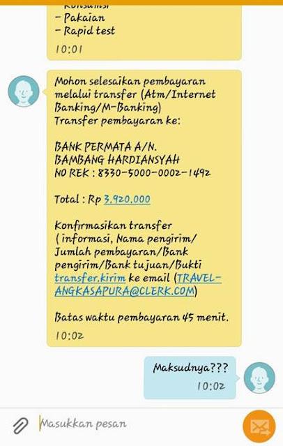 SMS Penipuan Lowongan Kerja PLN