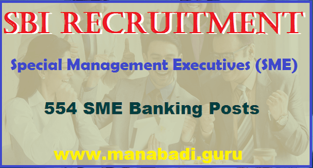 latest jobs, Bank jobs, State Bank of India jobs, special Management Executives, SME Banking Posts