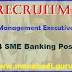 SBI Special Management Executives (SME) Recruitment 2017 - 554 SME Banking Posts