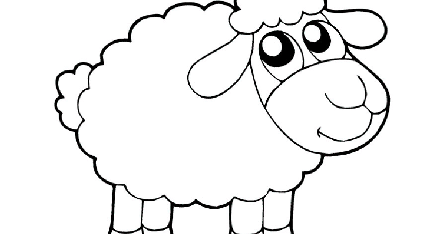 Lhn Arts Gambar Mewarnai Domba Untuk Anak Paud Dan Tk