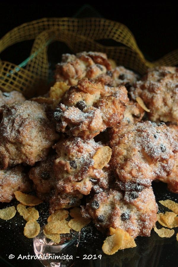 Biscotti ai Corn Flakes e Frutta Secca