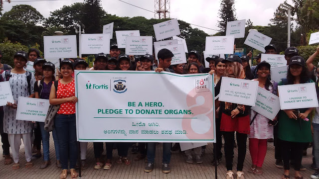 St. Joseph's College students volunteered for Fortis Hospital's organ donation campaign