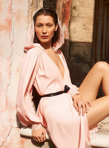 sexy model Bella Hadid topless photoshoot for Porter Magazine Photoshoot Summer 2017