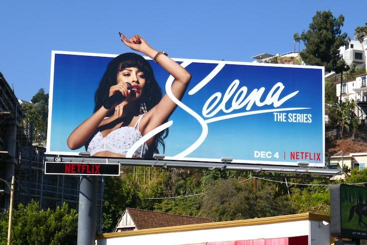 Selena Netflix series billboard