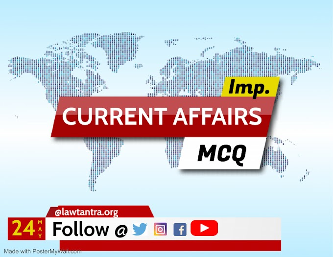 24 May 2021 Current Affairs in English