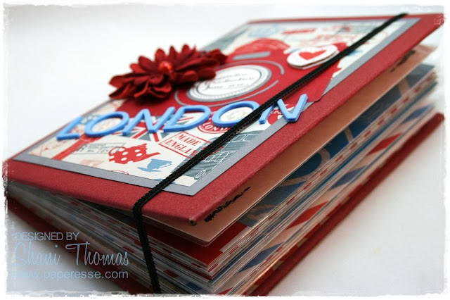 London, England mini-album – print out your digital photos! by Paperesse