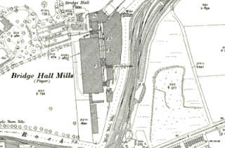 Bridge Hall Paper Mills, OS map, 1928.