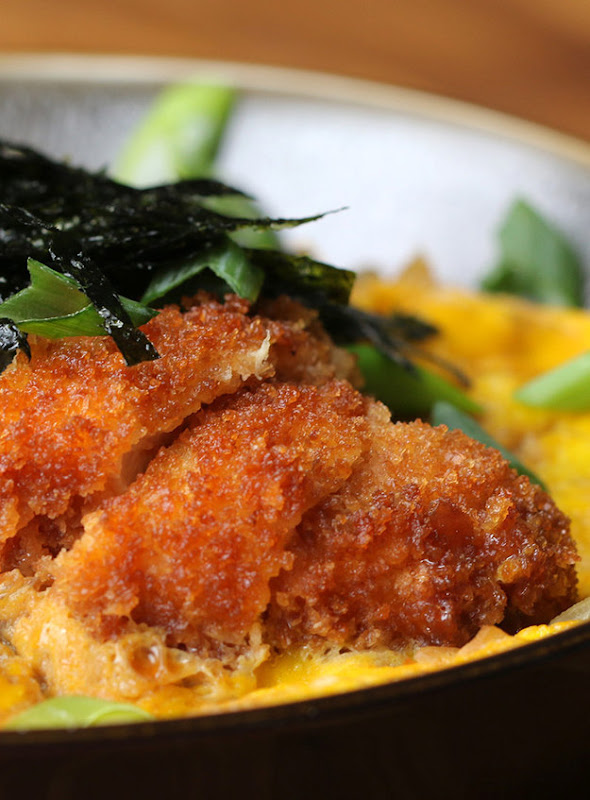 Fried Chicken and Egg Rice Bowl #Recipe
