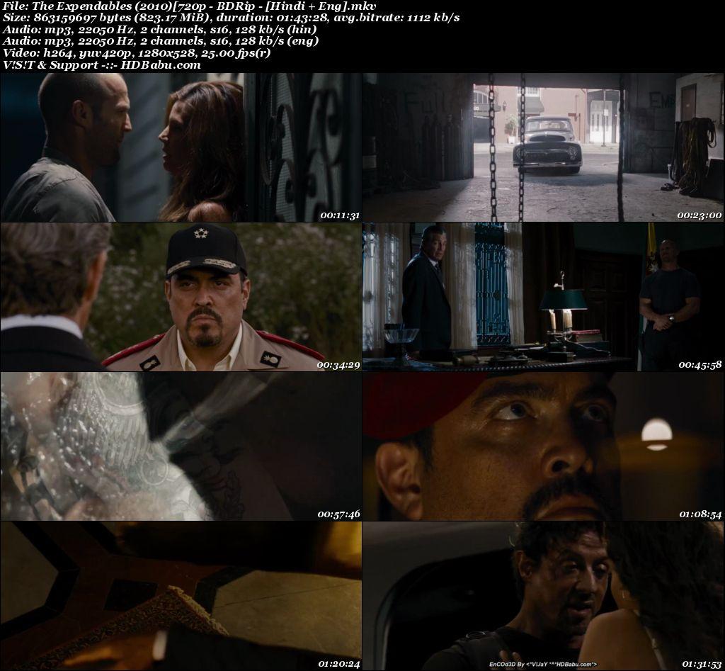 The Expendables (2010) [720p - BDRip - [Hindi + Eng] Screenshot