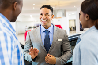 Car Salesman Portraying Excellent Customer Service