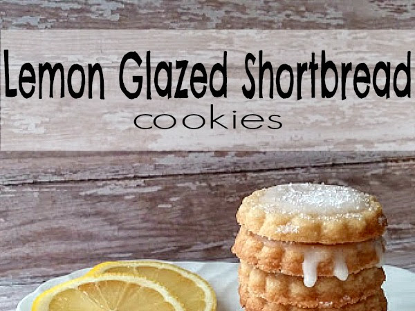 Lemon Glazed Shortbread Cookies