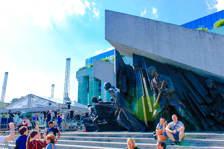 Warsaw Uprising monument Poland