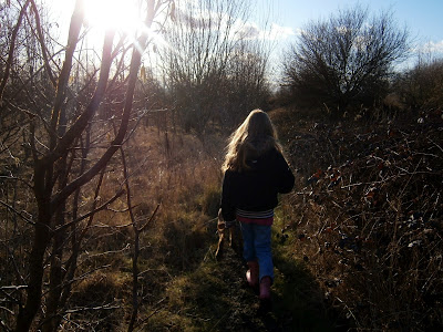 cold day out for a walk with sun shinning