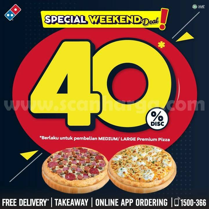 Domino's Pizza Promo Special Weekend Deal! Disc 40%