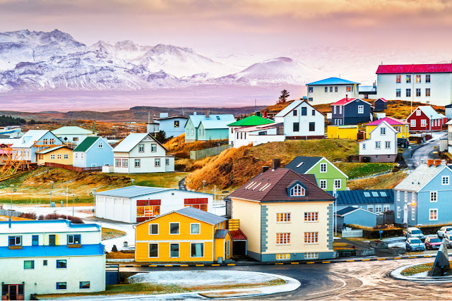 Iceland cities and towns like Stykkishólmur are highlights to visit