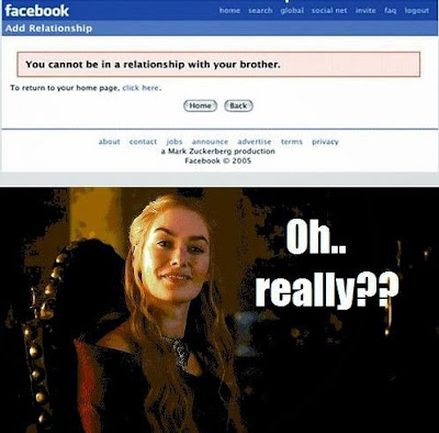 Meme de humor sobre Cersei y Juego de tronos