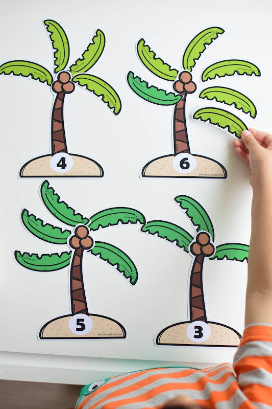 SUMMER THEMED LEARNING: COCONUT LEAVES COUNTING