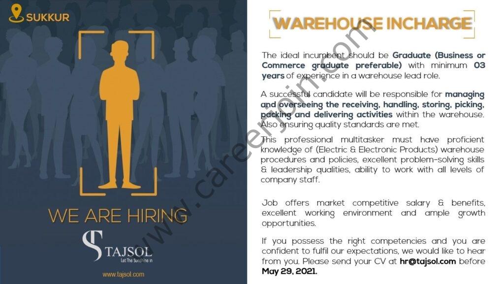 TAJSOL Jobs 2021 in Pakistan