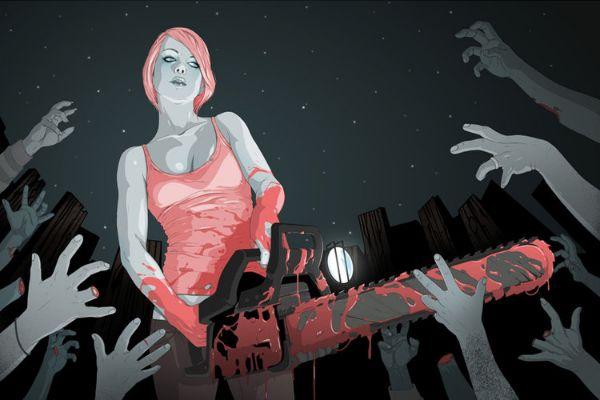 Nice Illustrations by Jason Levesque - Chainsaw
