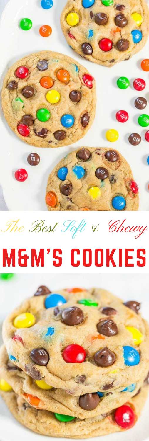 The Best Soft and Chewy M&M'S Cookies #dessert #cookies