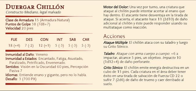 Aventura D&D - El Diezmo - Duergar Chillón