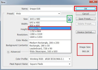 """If you select for website images, then select Preset as """"Web"""""""
