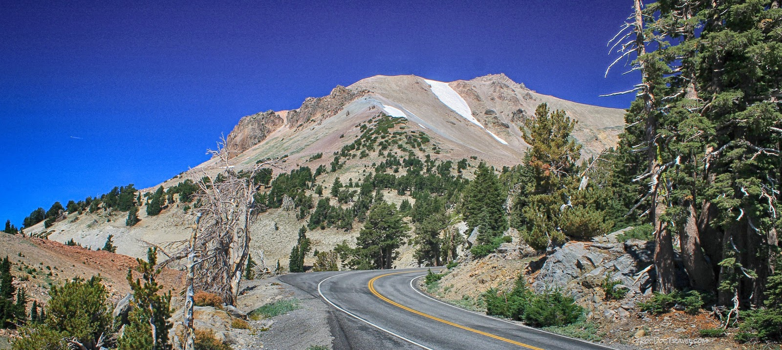 Lassen Volcanic National Park California geology travel volcano copyright RocDocTravel.com