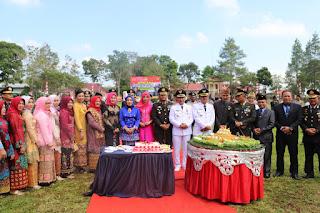 Rangkaian Hari Bhayangkara ke-73 Kapolres Lampung Barat Menggelar Syukuran