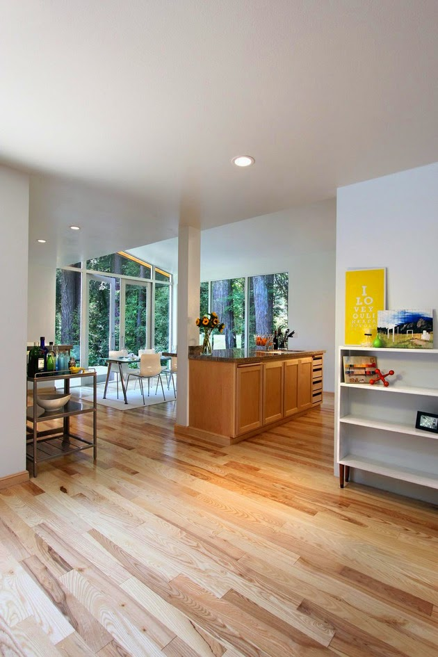 Desain Rumah Sederhana dengan Dinding Kayu