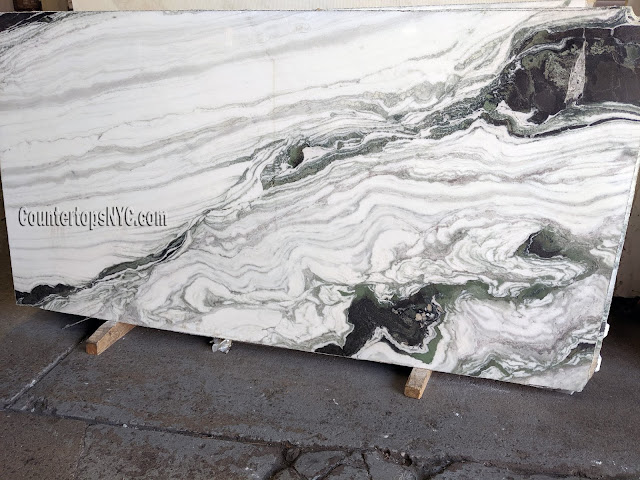 Bianco Lasa Macchia Vecchia - Marble Slab NYC