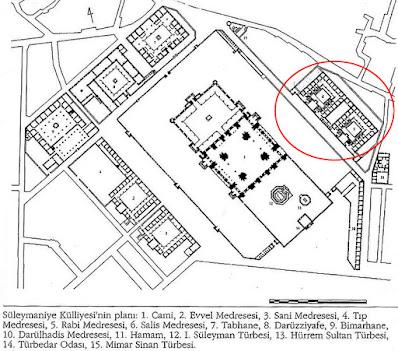 Süleymaniye Camii Külliye Planı