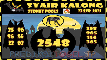 Prediksi Togel Kalong Sidney Kamis 23 September 2021