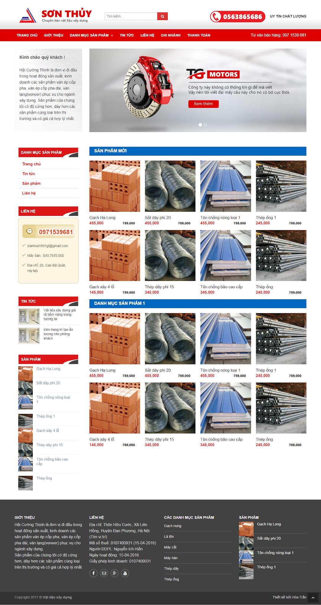 Template blogspot Công ty bán Vật liệu xây dựng