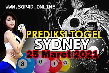 Prediksi Togel Sydney 25 Maret 2021