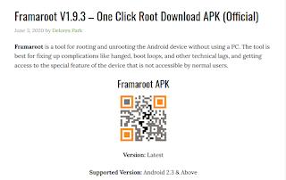 Cara Root Smartphone Android Menggunakan Aplikasi FramaRoot