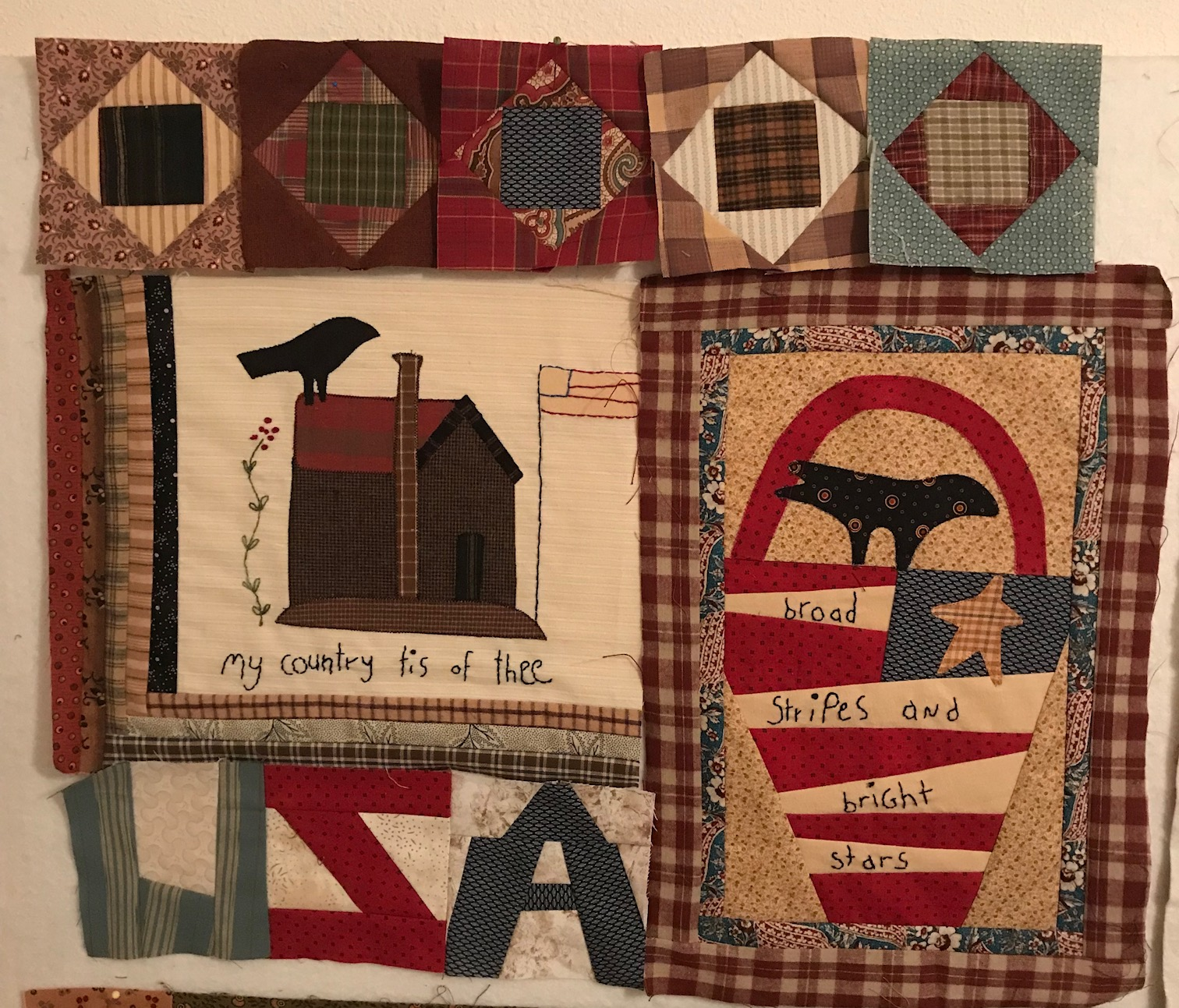 Humble Quilts: Sweet Land of Liberty Month 1 : we r quilts - Adamdwight.com