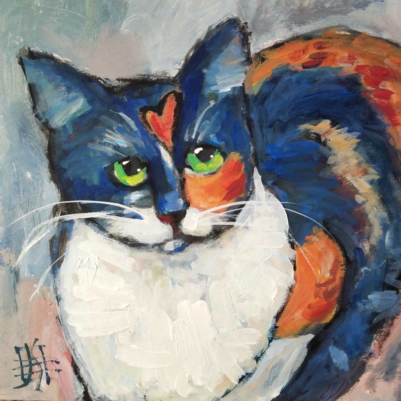 cat #13 by Joanie Springer 30 cats in 30 days