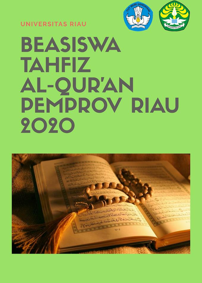 Ini Persyaratan Lengkap Beasiswa Tahfiz Qur'an Pemprov Riau Tahun 2020, Deadline 28 Agustus 2020