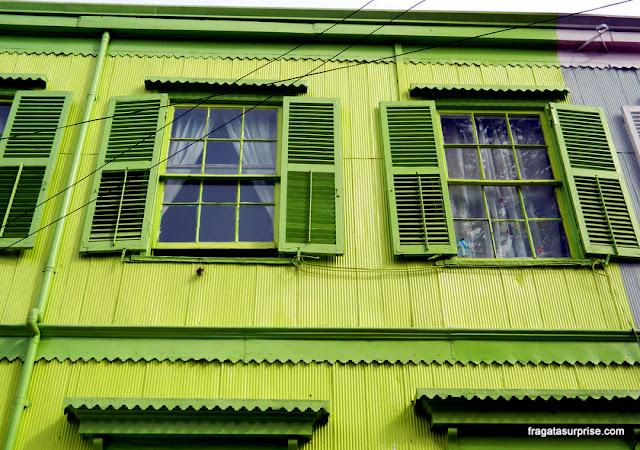 Fachada típica de Valparaíso, Chile